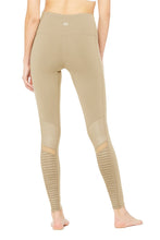 Load image into Gallery viewer, Alo Yoga SMALL High-Waist Moto Legging - Gravel Glossy