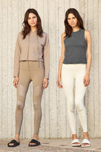 Load image into Gallery viewer, Alo Yoga XS High-Waist Moto Legging - Gravel Glossy