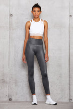 Load image into Gallery viewer, Alo Yoga XS High-Waist Shine Legging - Anthracite Shine