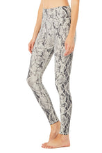 Load image into Gallery viewer, Alo Yoga SMALL High-Waist Snakeskin Vapor Legging - Bone
