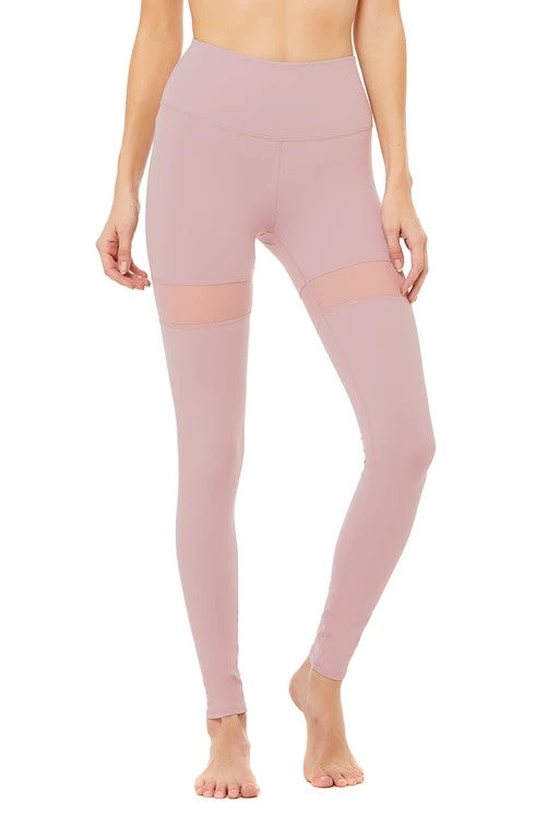 Alo Yoga SMALL Thigh High Legging - Dusted Plum
