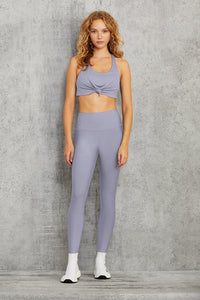 Alo Yoga XS Knot Bra - Blue Moon