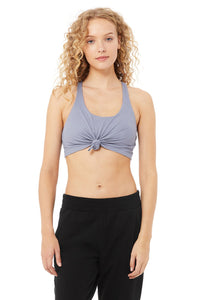 Alo Yoga SMALL Knot Bra - Blue Moon