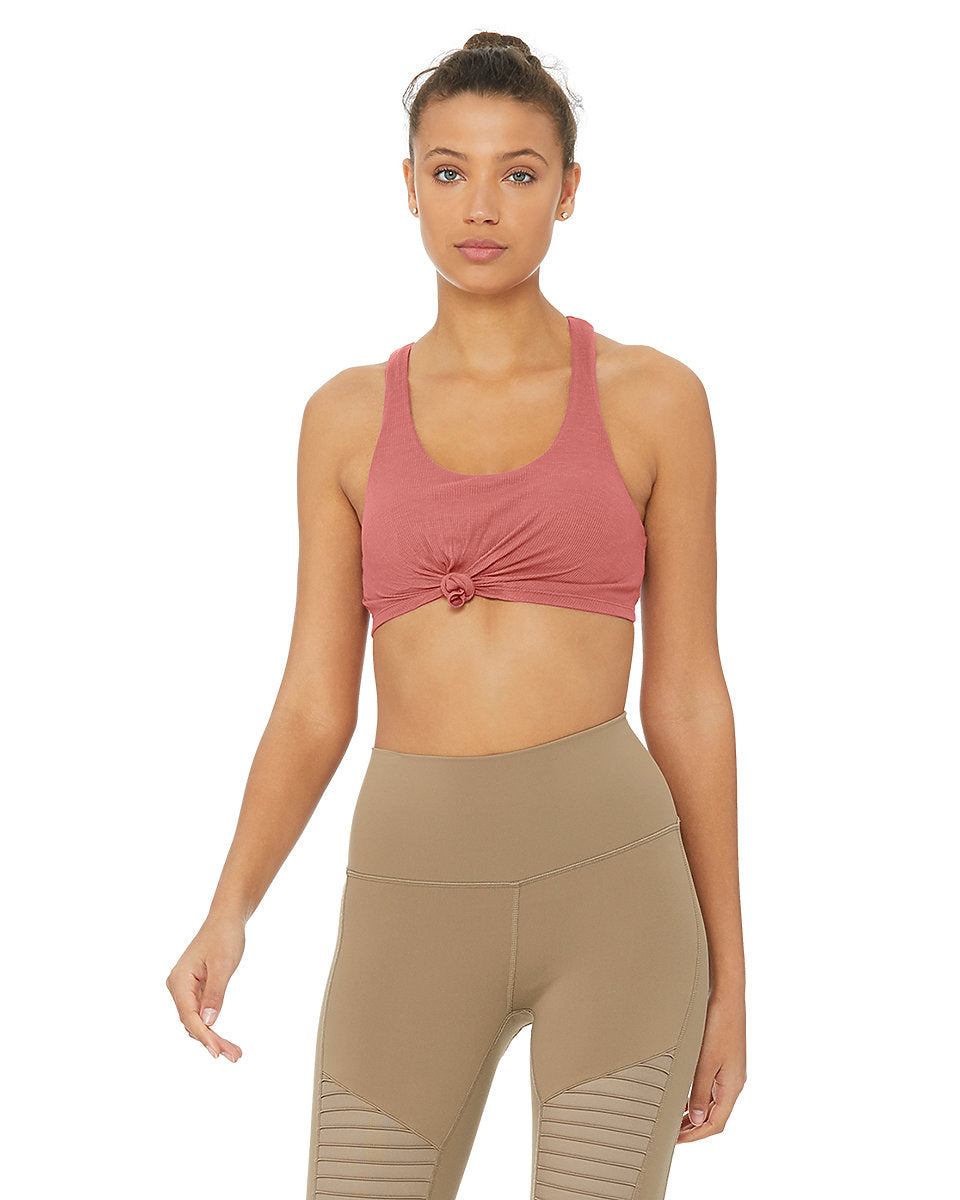 Alo Yoga SMALL Knot Bra - Rosewood
