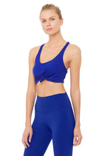 Load image into Gallery viewer, Alo Yoga SMALL Knot Bra - Sapphire