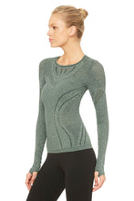 Load image into Gallery viewer, Alo Yoga Lark Long Sleeve Top - Hunter Heather