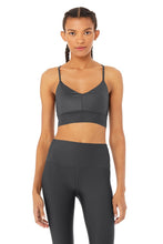 Load image into Gallery viewer, Alo Yoga MEDIUM Lavish Bra - Anthracite