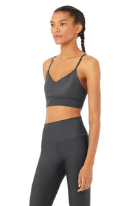 Alo Yoga MEDIUM Lavish Bra - Anthracite