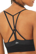 Load image into Gallery viewer, Alo Yoga XS Lavish Bra - Black Glossy