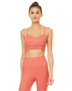 Alo Yoga SMALL Lavish Bra - Strawberry