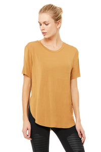 Alo Yoga XS Lithe Tee - Putty
