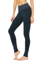 Load image into Gallery viewer, Alo Yoga XXS High-Waist Alosoft Lounge Legging - Rich Navy Heather