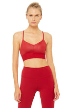 Load image into Gallery viewer, Alo Yoga Lush Bra - Crimson Glossy/Crimson