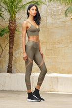 Load image into Gallery viewer, Alo Yoga SMALL High-Waist Mesmerize Capri - Olive Branch