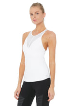 Load image into Gallery viewer, Alo Yoga Motivate Bra Tank - White