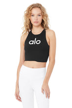 Load image into Gallery viewer, Alo Yoga SMALL Movement Logo Bra - Black/White