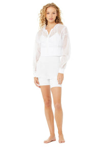 Alo Yoga SMALL Nebula Jacket - White