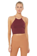 Load image into Gallery viewer, Alo Yoga Precision Bra Tank - Black Cherry