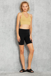 Alo Yoga SMALL Real Bra Tank - Honey