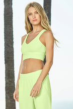 Load image into Gallery viewer, Alo Yoga SMALL Real Bra Tank - Neon Lime