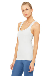 Alo Yoga XS Rib Support Tank - Dove Grey