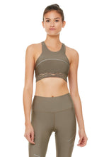 Load image into Gallery viewer, Alo Yoga MEDIUM Sequence Bra- Olive Branch