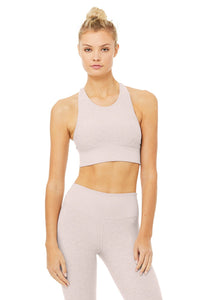 Alo Yoga XS Alosoft Serenity Bra - Lavender Cloud Heather