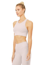 Load image into Gallery viewer, Alo Yoga XS Alosoft Serenity Bra - Lavender Cloud Heather