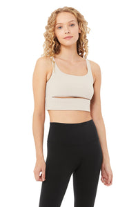 Alo Yoga SMALL Slit Bra - Bone