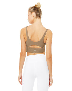Alo Yoga MEDIUM Slit Bra - Gravel
