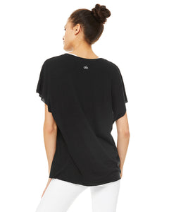 Alo Yoga XS Space Short Sleeve - Black