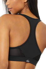 Load image into Gallery viewer, Alo Yoga MEDIUM Speed Bra - Black