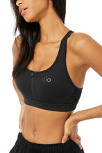 Load image into Gallery viewer, Alo Yoga SMALL Speed Bra - Black