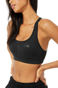 Alo Yoga SMALL Speed Bra - Black