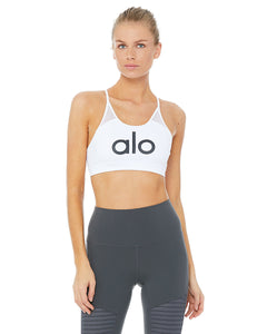 Alo Yoga MEDIUM Starlet Bra - White/Alo/Black
