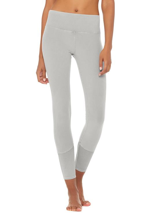 Alo Yoga XS High-Waist Sueded Lounge Legging - Lead Wash