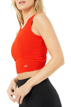 Load image into Gallery viewer, Alo Yoga XS Swirl Tank - Cherry