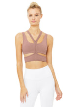 Load image into Gallery viewer, Alo Yoga XS Trackie Bra - Smoky Quartz