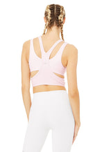 Load image into Gallery viewer, Alo Yoga MEDIUM Trackie Bra - Soft Pink