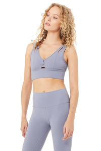 Alo Yoga SMALL United Long Bra - Blue Moon