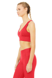 Alo Yoga XS United Long Bra - Scarlet