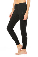 Load image into Gallery viewer, Alo Yoga XS Urban Moto Sweatpant - Black