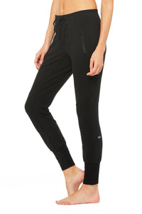 Alo Yoga XS Urban Moto Sweatpant - Black