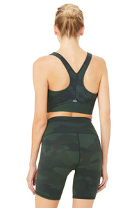 Alo Yoga SMALL Vapor Wild Thing Bra  - Hunter Camouflage