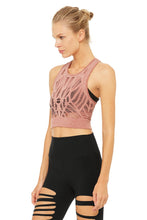 Load image into Gallery viewer, Alo Yoga Vixen Fitted Crop Tank - Earth Heather