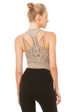 Load image into Gallery viewer, Alo Yoga Vixen Fitted Crop Tank - Gravel Heather