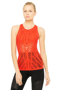 Alo Yoga Vixen Fitted Muscle Tank - Poppy