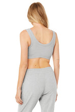 Load image into Gallery viewer, Alo Yoga SMALL Wellness Bra  - Dove Grey Heather