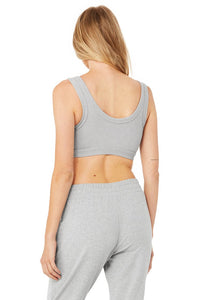 Alo Yoga SMALL Wellness Bra  - Dove Grey Heather