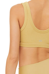 Alo Yoga XS Wellness Bra  - Honey